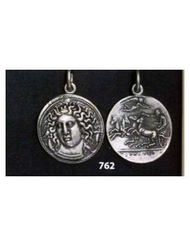 762 Syracuse, Sicily Arethousa coin pendant pendant