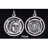 772/A Rhodes - Helios sun god and rose