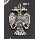 1030 Thick silver masonic double-headed eagle of Lagash pendant