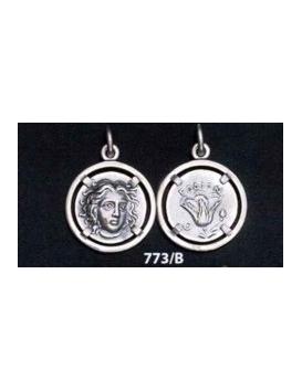 773/B Rhodes coin - Helios sun god and rose