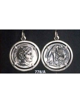 778/A Athena & Herakles/Hercules silver Diobol