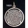 1025 Phaistos disc pendant on silver bezel (L)