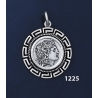 1225 Alexander The Great (Lysimachos) Coin Pendant with Greek Key Pattern / Meander (M)