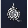 1236 Alexander The Great (Lysimachos) Coin Pendant with Greek Key Pattern / Meander (S)