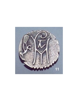 11 Byzantine monogram brooch