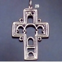 29 Imperfect byzantine Icon / Econographical Arch Cross