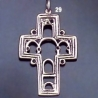 29 Byzantine Icon / Econographical Arch Cross L