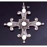 31 Solid Silver Ornate Byzantine Cross (XL)