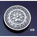 619 Byzantine Floral Granular Round Sacet