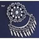 707 Ornate Sterling Silver Chandelier Brooch