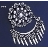 707 Ornate Sterling Silver Chandelier Brooch