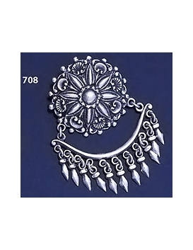 708 Ornate Sterling Silver Chandelier