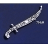 708/B Sterling Silver Asia-Minor Yatagan Sword Brooch