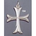 154 Sterling Byzantine/Knights Templar Cross pattée pendant