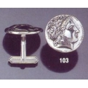 103X Silver Apollo cufflinks