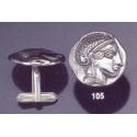 105X Silver Athena cufflinks