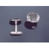 111 Solid Silver Cufflinks with Byzantine Monogram