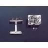 113 Solid Silver Cufflinks with Byzantine Monogram