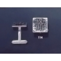 114 Solid Silver Cufflinks with Byzantine Monogram