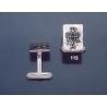 115 Solid Silver Cufflinks with Byzantine Monogram