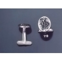 119 Solid Silver Cufflinks with Byzantine Monogram