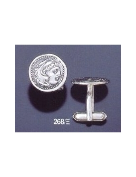 268/X Alexander the Great lifetime coin cufflinks