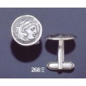 268/X Alexander the Great lifetime coin cufflinks