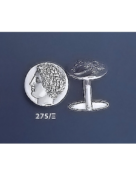 275/X Greek God Apollo coin cufflinks