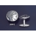 309/X Goddess Athena silver cufflinks