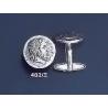 402/X Phillip II Macedon coin depicting Zeus silver cufflinks