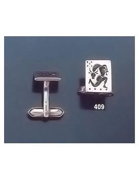 409 Minotaur roman intaglio seal (signet) silver cufflinks