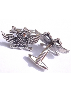 412 Sterling silver Masonic 2 headed eagle cufflinks