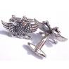 412 Sterling silver Masonic 2 headed eagle cufflinks