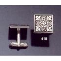 418 Ornate geometric design cufflinks