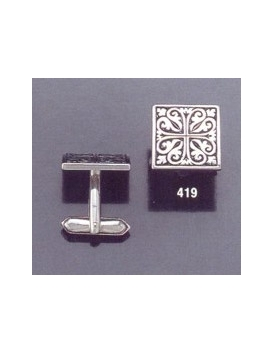 419 Ornate geometric design cuff links