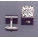 419 Ornate geometric design cuff links
