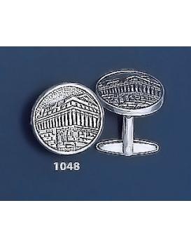 1048 Acropolis / Parthenon Silver Coin Cufflinks