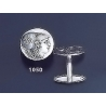 1050 Helmetted Athena Silver Coin Cufflinks (M)