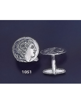 1051 Alexander the Great Coin cufflinks