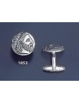 1053 Phillip II Macedon Depicting Zeus Coin Cufflinks (M)