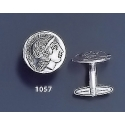 1057 Silver didrachm coin of Thourion Athena cufflinks