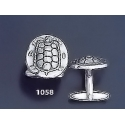 1058 Aegina Land Tortoise Coin Cufflinks