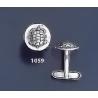 1059 Aegina Land Tortoise Coin Cufflinks ((M)
