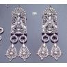 """326 Large sterling silver """"""""Attica"""""""" earrings"""
