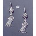 327 Owl of Wisdom Sterling Silver Earrings