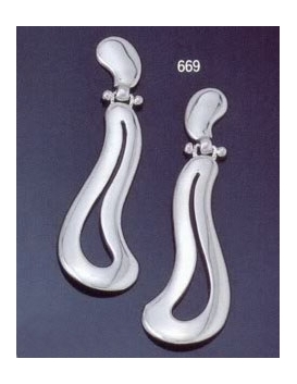 669 Large free-form symmetrical Grecian earrings