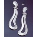 669 Large free-form symmetrical Grecian earrings