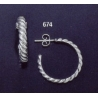 674 sterling silver hoop earrings