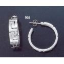 998 Greek key maeander pattern hoop earrings (L)