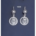 1039 Rhodes Island- Helios Ancient Sun God Coin Earrings